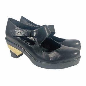 Antelope Art Deco Heel Mary Jane Shoes 38